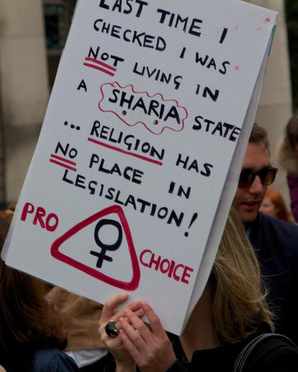 Islamophobia at Dublin's 'March For Choice'