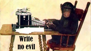 Chimpanzee Typing - Image by New York Zoological Society (1907)